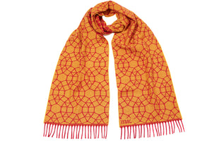 Tiles Super Narrow Scarf