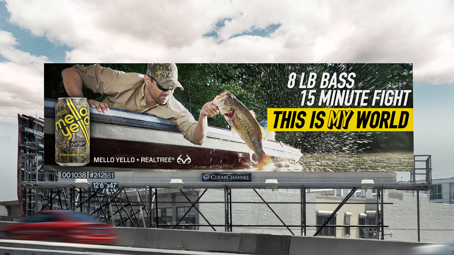 Mello Yello / Realtree billboard