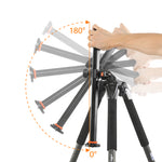 ALTA PRO 263AP Aluminum Tripod with 3-Way Video Pan Head - Rated at 11lbs/5kg