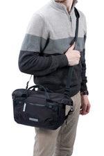 VEO FLEX 25M Slim Rolltop Shoulder Bag - Black