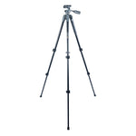 VEO 2 PRO 203AO ALUMINUM TRIPOD WITH 2-WAY PAN HEAD - RATED AT 6.6LBS/3KG