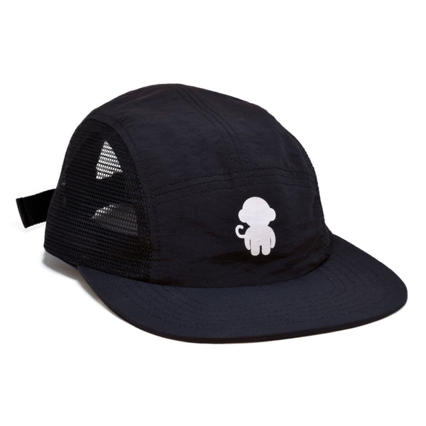 Mesh Monkey Logo 5 Panel Hat Black