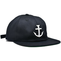 BOLT LOGO 6 PANEL HAT BLACK