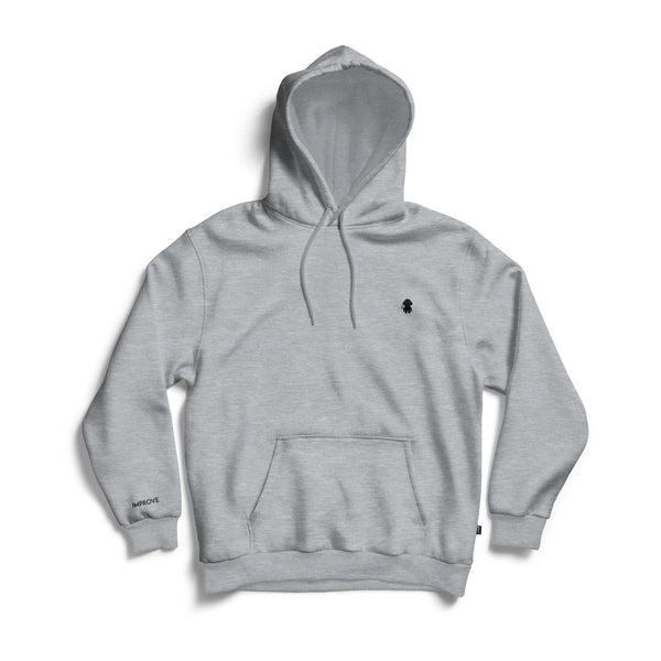 Monkey Logo Hoodie Grey Heather