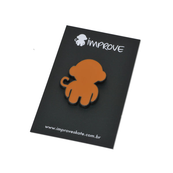 Monkey Logo Pin Orange