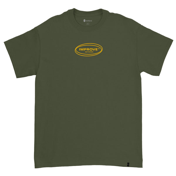 Network T-shirt Military Green