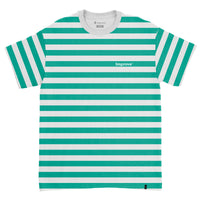 Striped T-shirt Teal / White