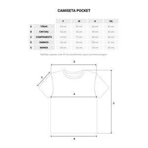 Camiseta Pocket Marrom