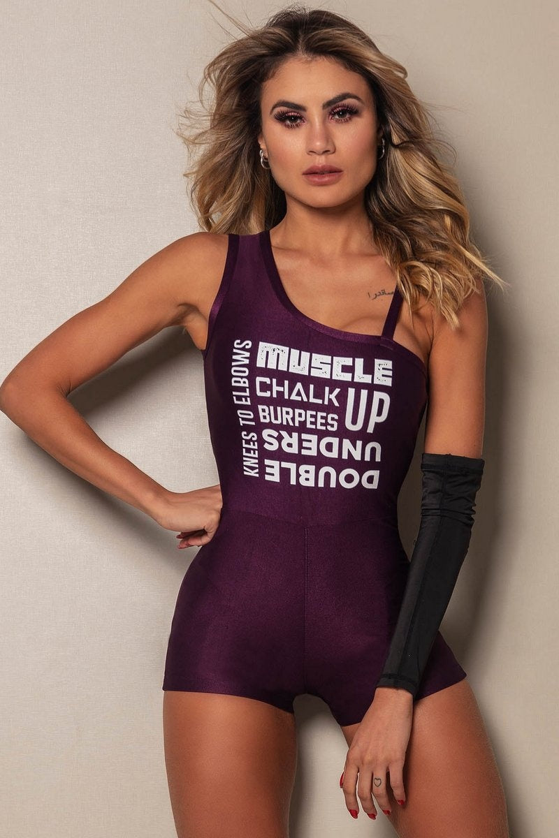 Jumpsuit 2020 Fitness Purple - WaveFit Activewear