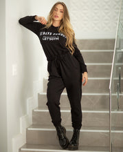 Load image into Gallery viewer, Jumpsuit Let's Gym Fleece Black