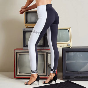 Pants Legging Black and White