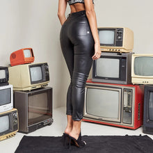 Load image into Gallery viewer, Pants Star Leather Black