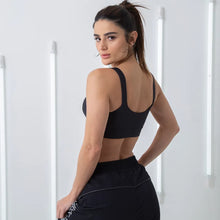 Load image into Gallery viewer, Sports Bra Essentials LABELLAMAFIA Black