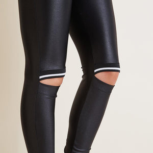 Pants Black n White Cut Knee - Labellamafia