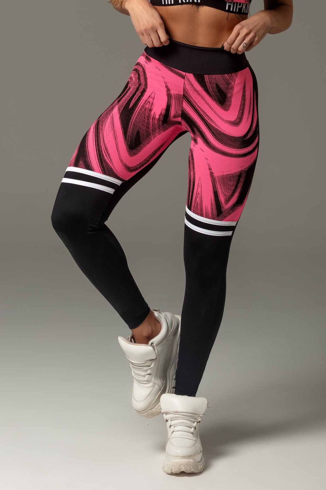 Legging Attitude Fitness with Print Cutout