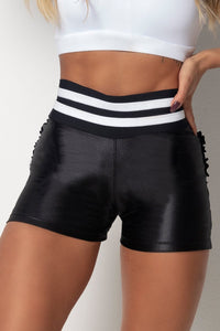 Shorts Tfin Fitness Cirre Black with Elastic - WaveFit Activewear