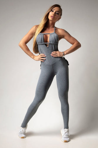 Jumpsuit Grey Rock on Fitness - Hipkini
