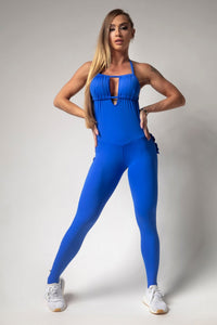 Jumpsuit Royal Blue Rock on Fitness - Hipkini