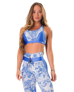 Sports Bra Fierce Blue - Let's Gym