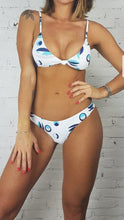 Load image into Gallery viewer, Bikini Set Moana Top Knot Greek Eye White - WaveFit Activewear