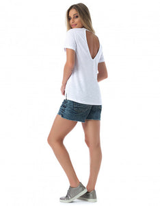 T-Shirt Short Sleeve New Year White
