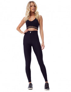 Legging Fusô Hot Pant Texture Black