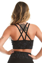 Load image into Gallery viewer, Sports Bra Emana Geometric Black - Caju Brasil