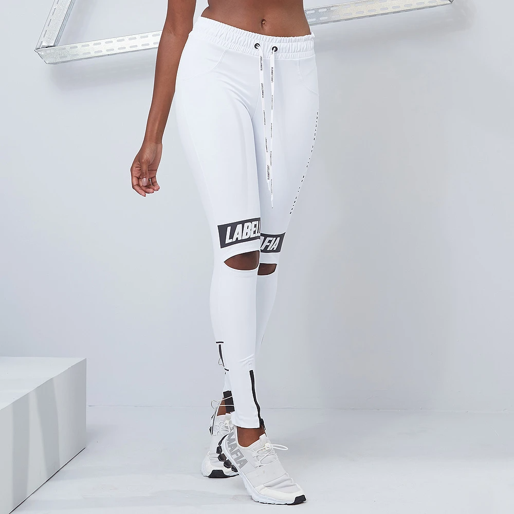 Legging Drawstring Essentials White - Labellamafia