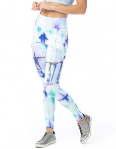 Legging Fuseau With Butt Cover Tie Dye Acid