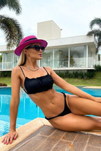 Load image into Gallery viewer, Bikini Cropped Front Single Black Mermaid Brazil