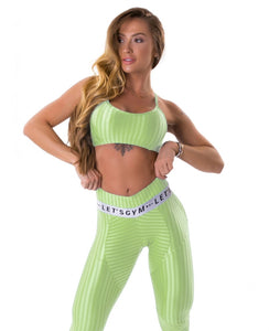 Sports Bra Ikate Muse Lime - Let's Gym