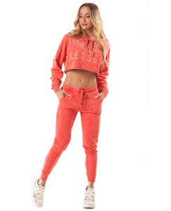 Jogger Let's Gym Pants New Coral