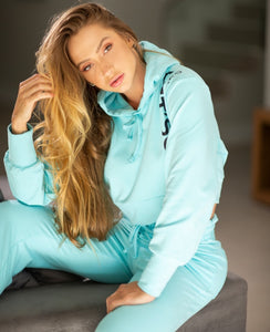 Jogger Let's Gym Sport Fleece Trend Blue