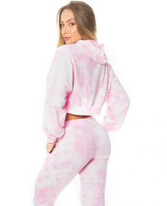 Jogger Let's Gym Tie Dye Pink