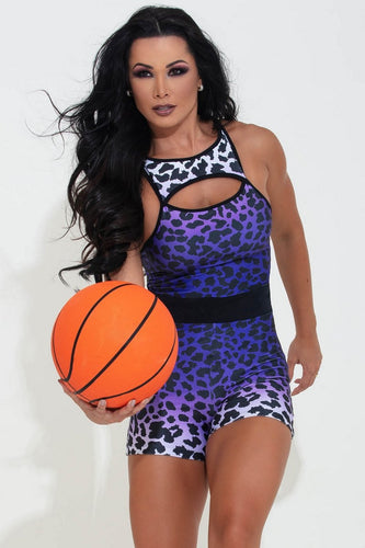Jumpsuit Shorts Lay-Up Playoff Monkey - WaveFit Activewear