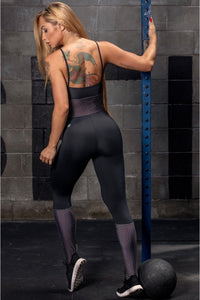 Jumpsuit Ns Fitness Dotted Pattern - WaveFit Activewear