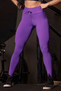 Legging Sn Fitness Purple with Silk - WaveFit Activewear