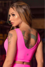 Load image into Gallery viewer, Top Sn Fitness Pink Neon - WaveFit Activewear