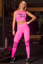Load image into Gallery viewer, Legging Sn Fitness Pink Neon - WaveFit Activewear