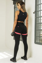 Load image into Gallery viewer, Legging Edn Fitness with Pink Polka Dots - WaveFit Activewear