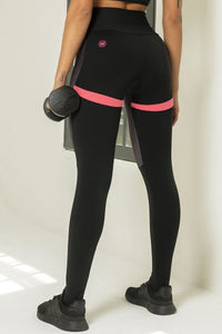 Legging Edn Fitness with Pink Polka Dots - WaveFit Activewear