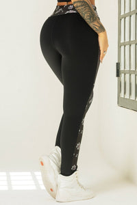 Leggings Edn Fitness with Floral Print - WaveFit Activewear