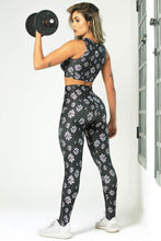 Load image into Gallery viewer, Leggings Edn Fitness with Floral Print and High Waist - WaveFit Activewear