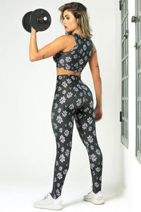 Leggings Edn Fitness with Floral Print and High Waist - WaveFit Activewear