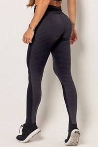 Legging Black Textured Fitness CFD - WaveFit Activewear
