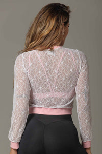 Jacket White Lace Attitude Fitness