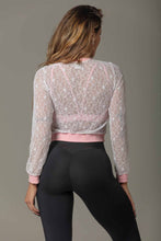 Load image into Gallery viewer, Jacket White Lace Attitude Fitness