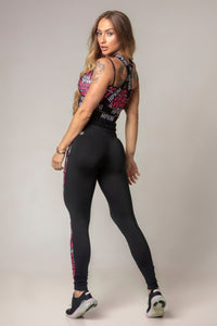 Legging Party Fitness with Pink Writing Print
