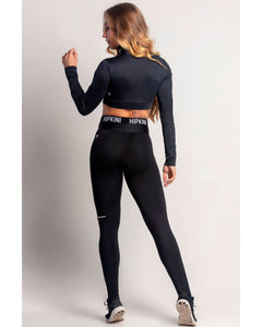 Legging Dream Fitness Black with Elastic and Zipper