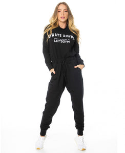 Jumpsuit Let's Gym Fleece Black